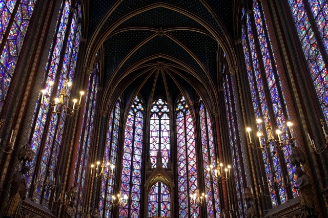 paris france sainte chapelle