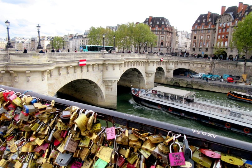paris france pont des arts seine river